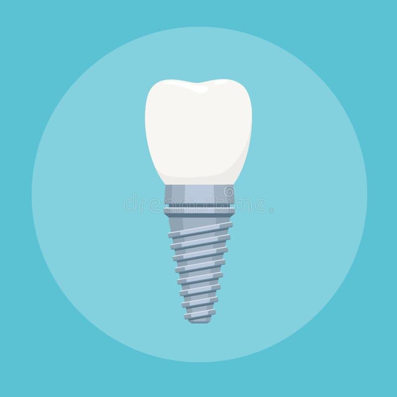Dental implant sign royalty free illustration