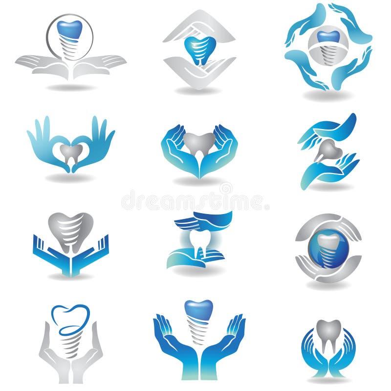 Dental implants royalty free illustration