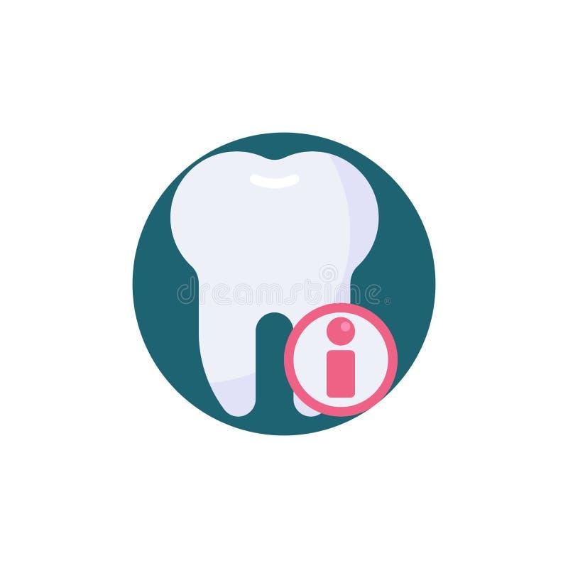 Dental information sign flat icon royalty free illustration