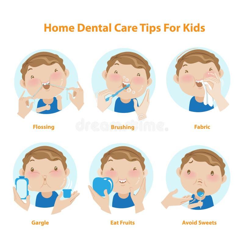 Dental kids. Dental care for kids. , illustrations royalty free illustration