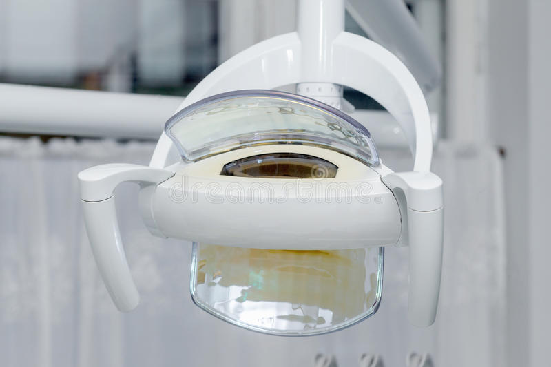 Dental lamp. In a dental clinic stock photography