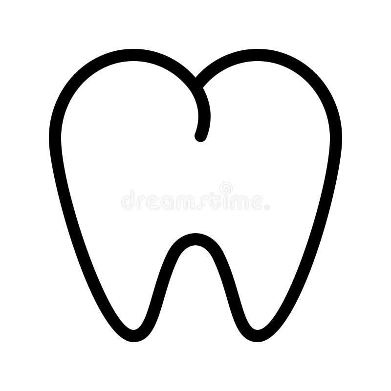 Dental line vector icon royalty free illustration