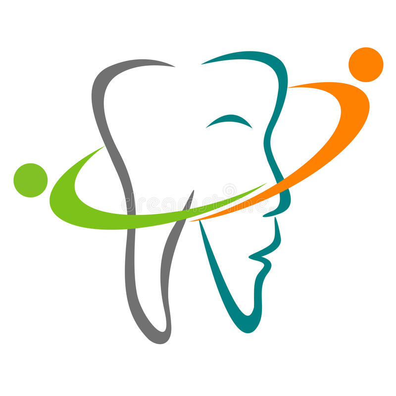 Dental logo royalty free illustration