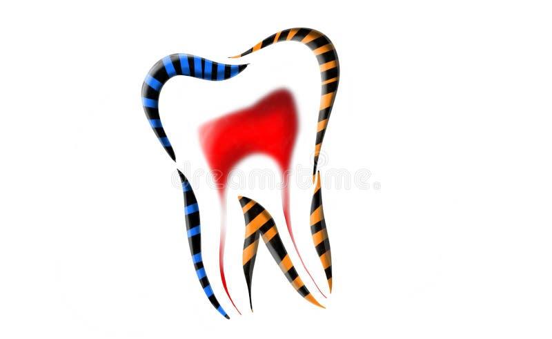 Dental logo design. Dental logo with background, for dental clinic dental logo vith some stripes stock illustration