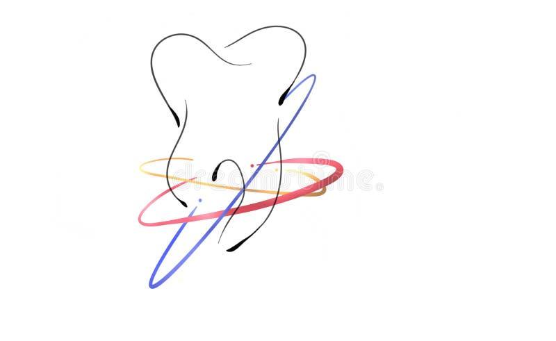 Dental logo design. Dental logo with background, for dental clinic dental logo vith some stripes royalty free illustration