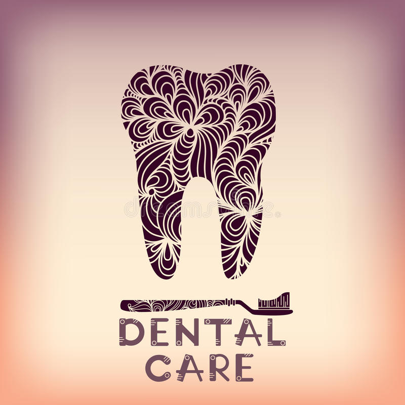 Dental logo design stock illustration