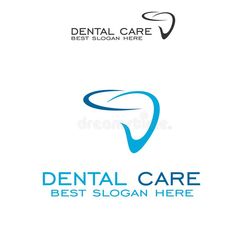 Dental logo design, vector icons. Dental care illustrated logos isolated on a white background royalty free illustration