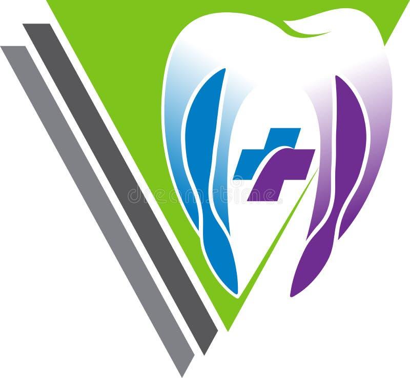 Dental logo. Illustration art of a dental logo with isolated background royalty free illustration