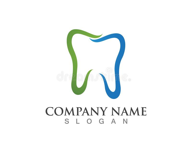 Dental logos symbols icons.  royalty free illustration