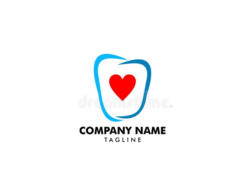 Dental Love logo design template royalty free illustration