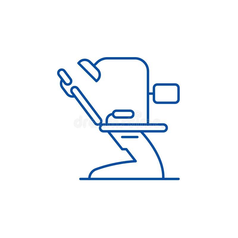 Dental office line icon concept. Dental office flat  vector symbol, sign, outline illustration. stock illustration