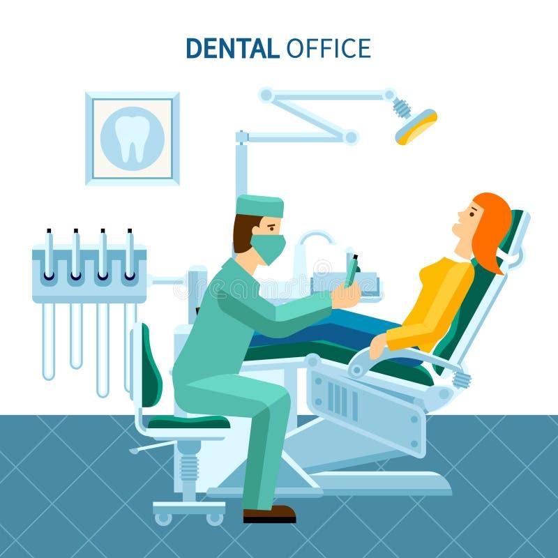 Dental Office Poster stock illustration