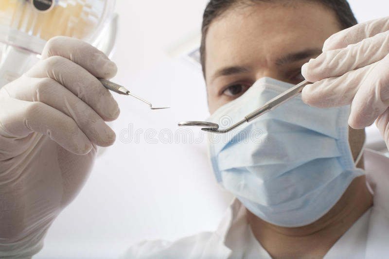 Dental operation stock photography