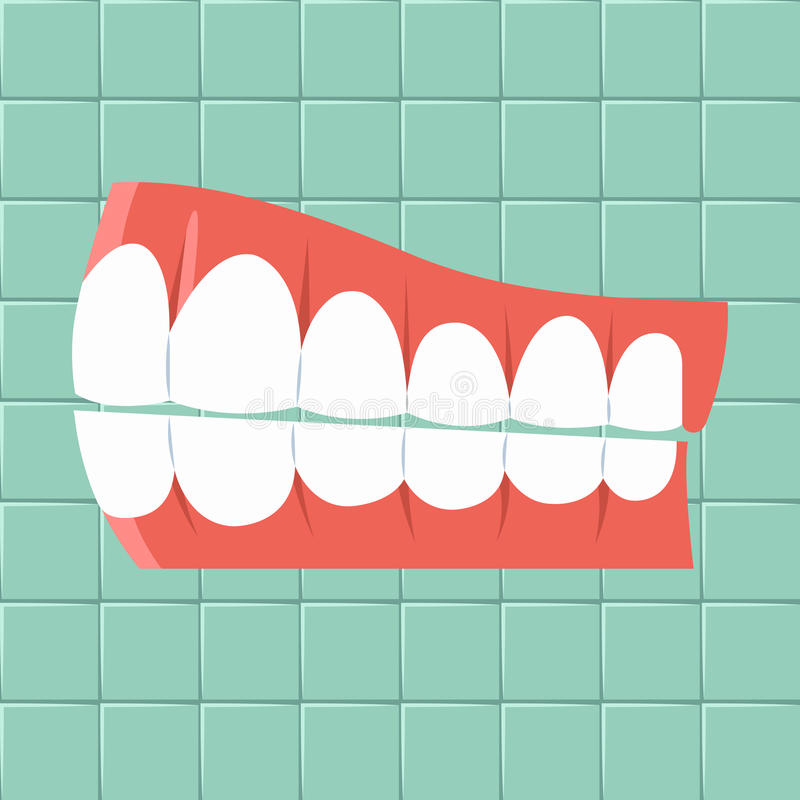 Dental. Oral hygiene background Flat design stock photo