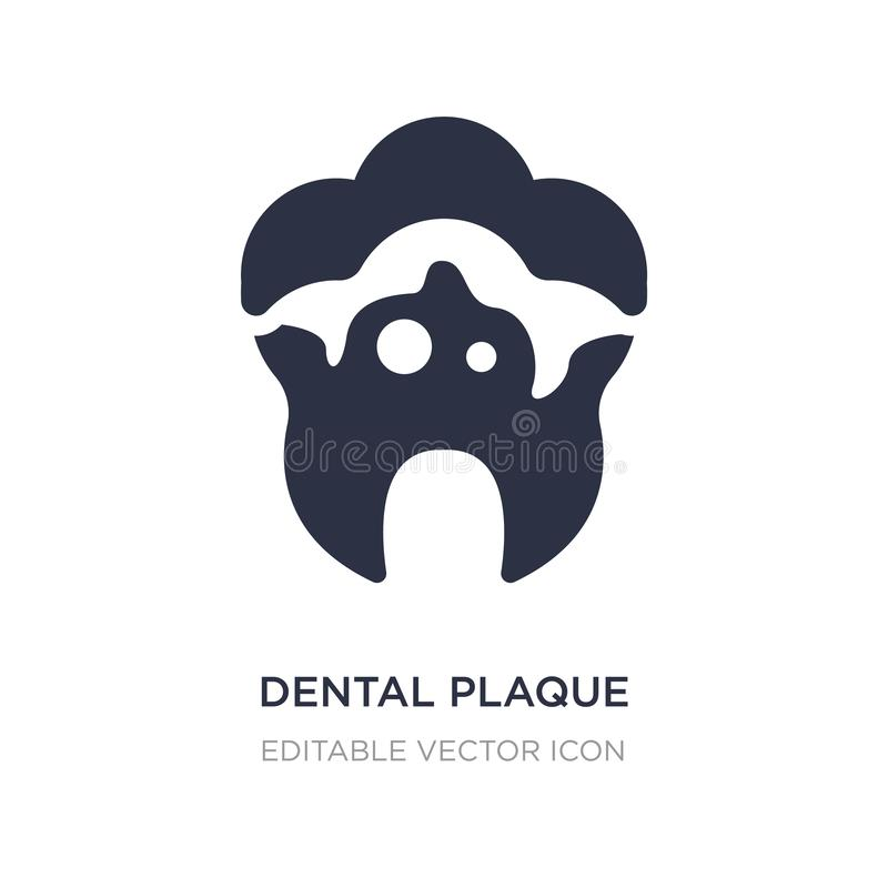 dental plaque icon on white background. Simple element illustration from Dentist concept vector illustration