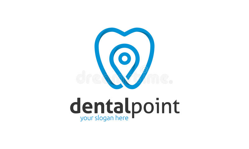 Dental Point Logo. Minimalist and modern dental logo template. Simple work and adjusted to suit your needs royalty free illustration