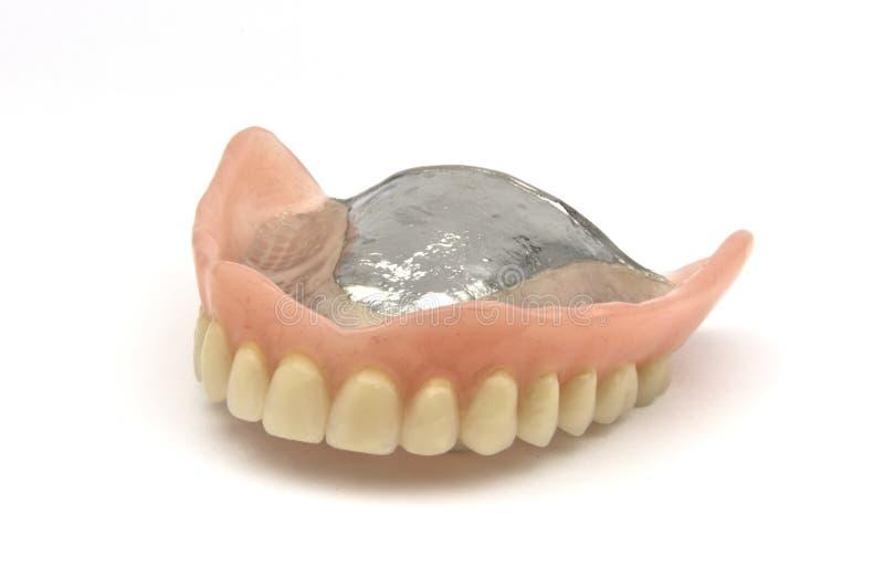 Dental prosthesis. Dental removable prosthesis on white background stock images