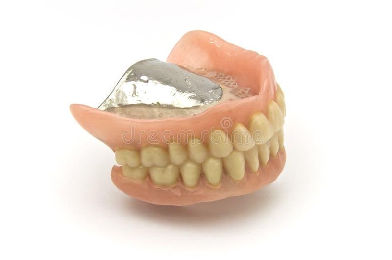 Dental prosthesis. Dental removable prosthesis on white background royalty free stock images