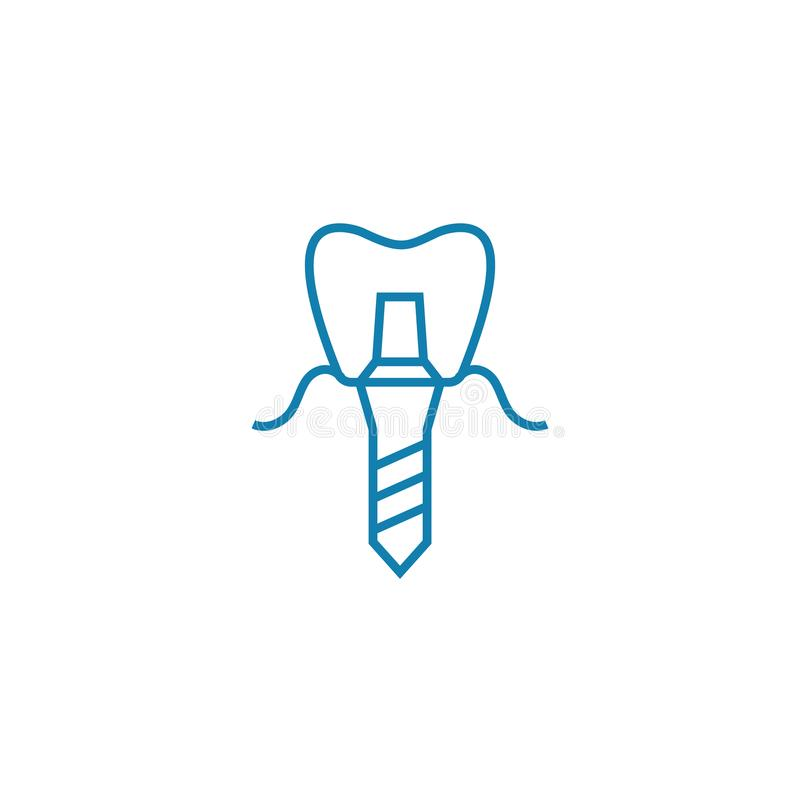 Dental prosthesis linear icon concept. Dental prosthesis line vector sign, symbol, illustration. royalty free illustration