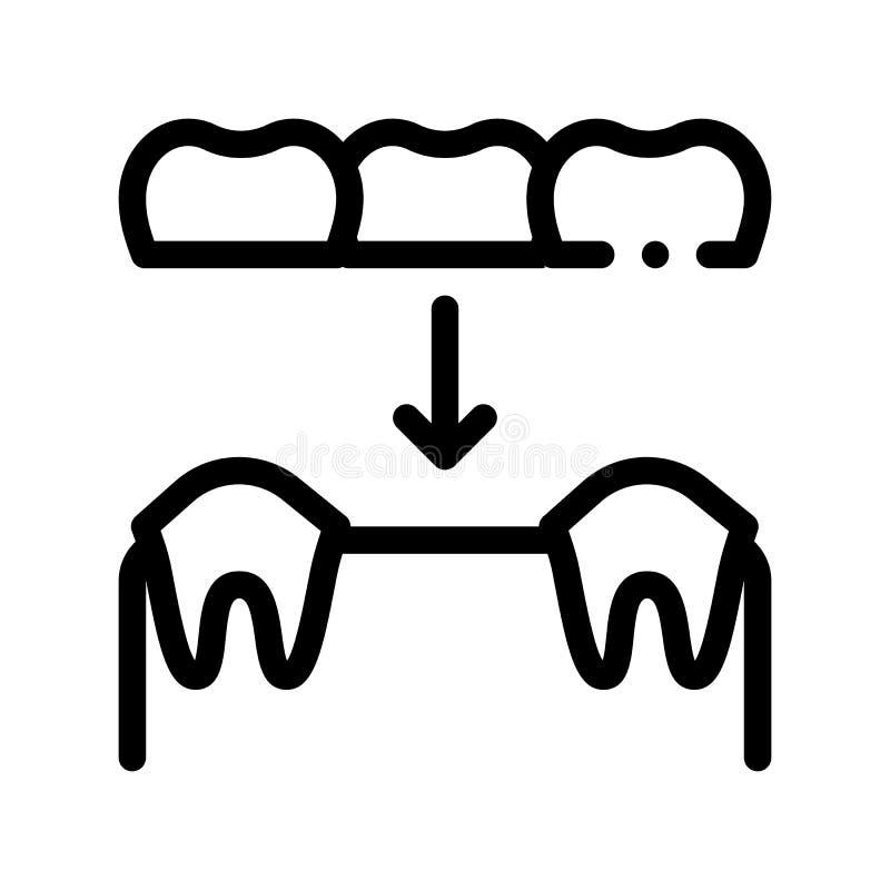 Dental Prosthesis Stomatology Vector Sign Icon royalty free illustration