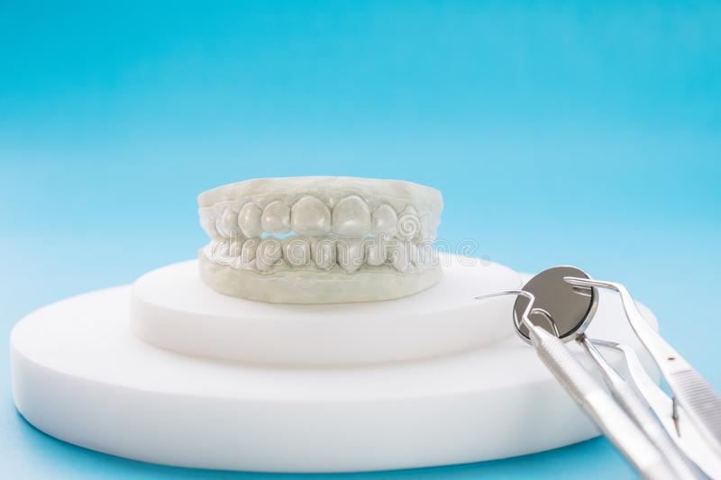 Dental retainer orthodontic appliance. royalty free stock photos