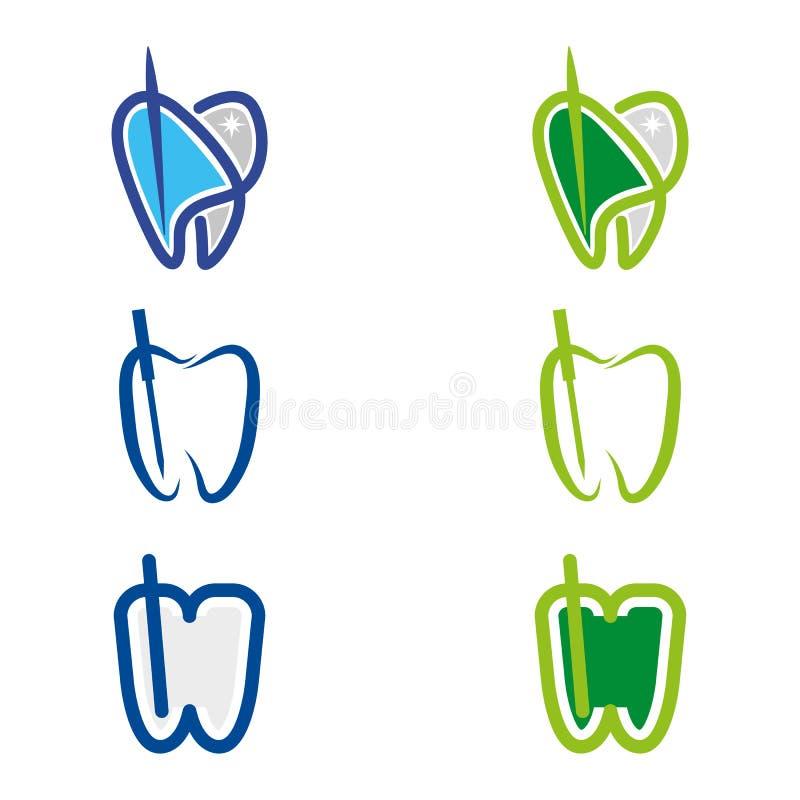 Dental. A set of dental, endodontics icons vector illustration