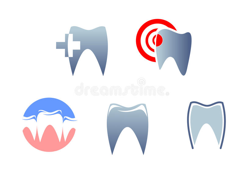 Dental signs. And symbols for medicine icons royalty free illustration