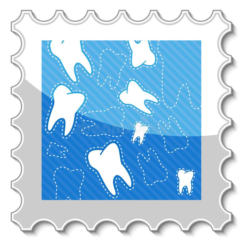 Dental Stamp Stock Photo