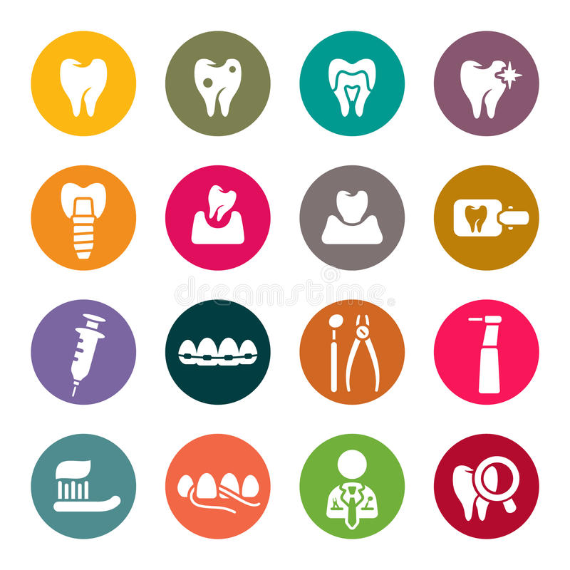 Dental theme icons. Vector Illustration royalty free illustration