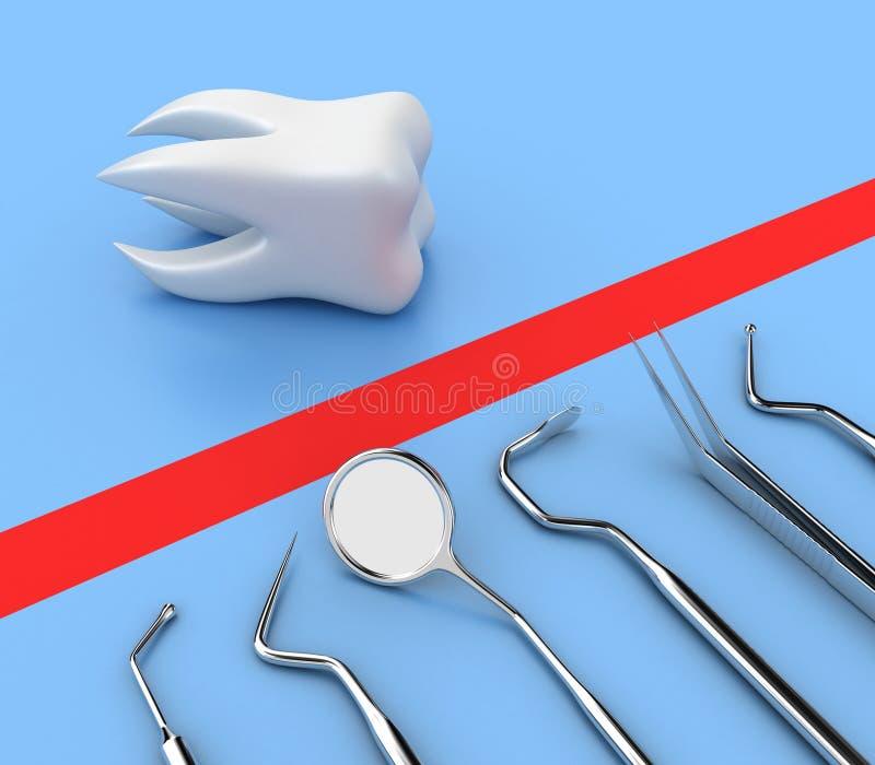 Download Dental tools stock illustration. Illustration of nerve - 23250545