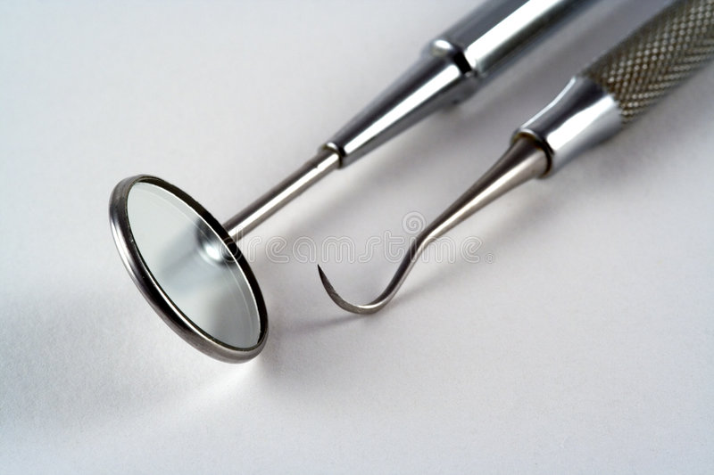 Dental Tools. Tools used by a dentist royalty free stock photos