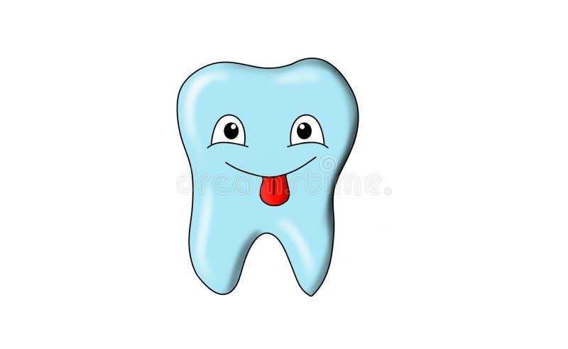 Dental tooth smile. Dental smile in action, tooth smile, blue tooth, Bluetooth, smiles of an tooth for emoji, emojis vector illustration