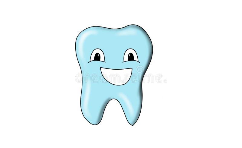Dental tooth smile. Dental smile in action, tooth smile, blue tooth, Bluetooth, smiles of an tooth for emoji, emojis royalty free illustration