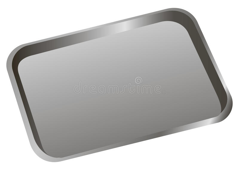 Dental tray. Stomatological tray to accommodate a dental tool. Vector illustration stock illustration