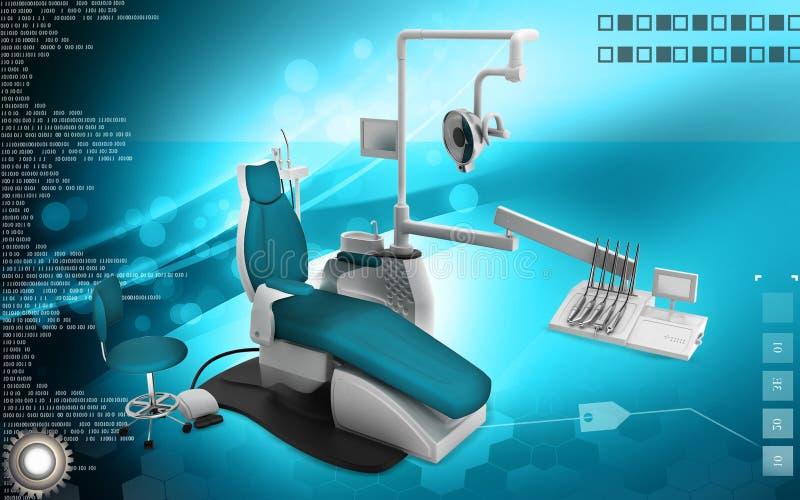 Dental unit. Digital illustration of Dental unit in colour background royalty free illustration