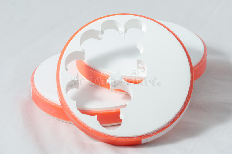 Dental Zirconia Disc. Was used by dental machine royalty free stock image