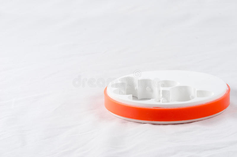 Dental Zirconia Disc. Was used by milling machine stock photos