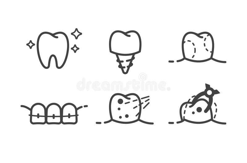 Dentario-icone royalty illustrazione gratis