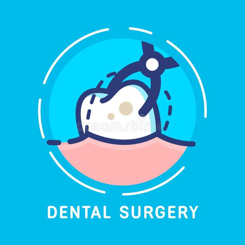 Dentario-icone illustrazione di stock