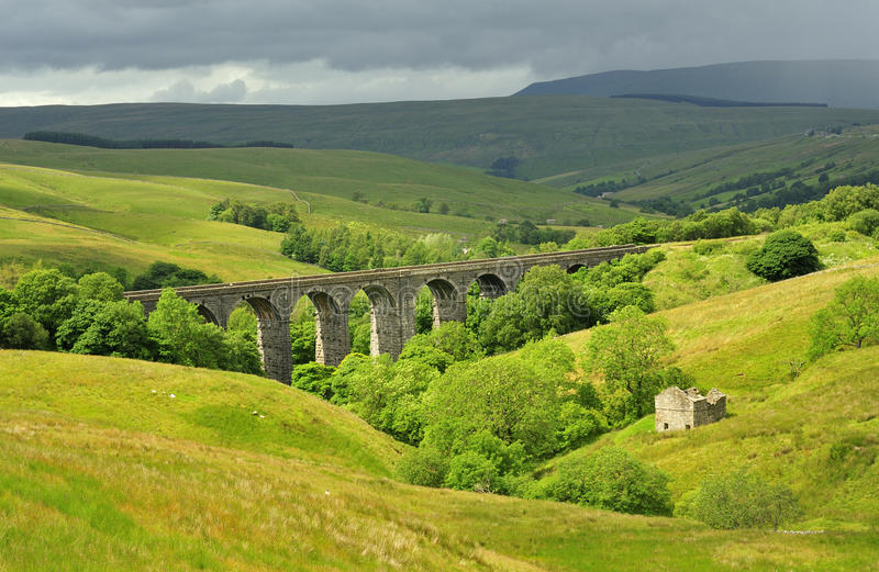 Dentdale Viaduct, Yorkshire Dales stock photos