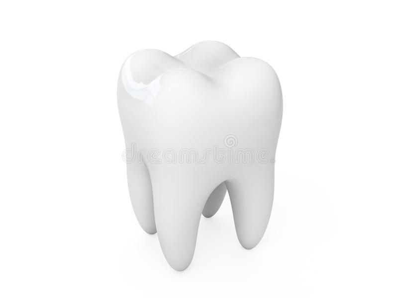 dente 3d illustrazione di stock