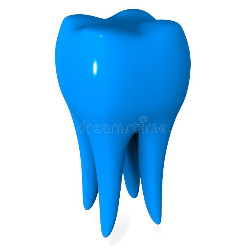 Dente azul ilustração stock