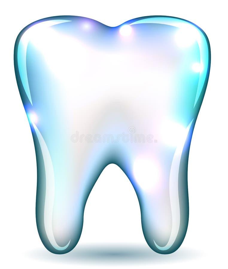 Dente bianco illustrazione di stock