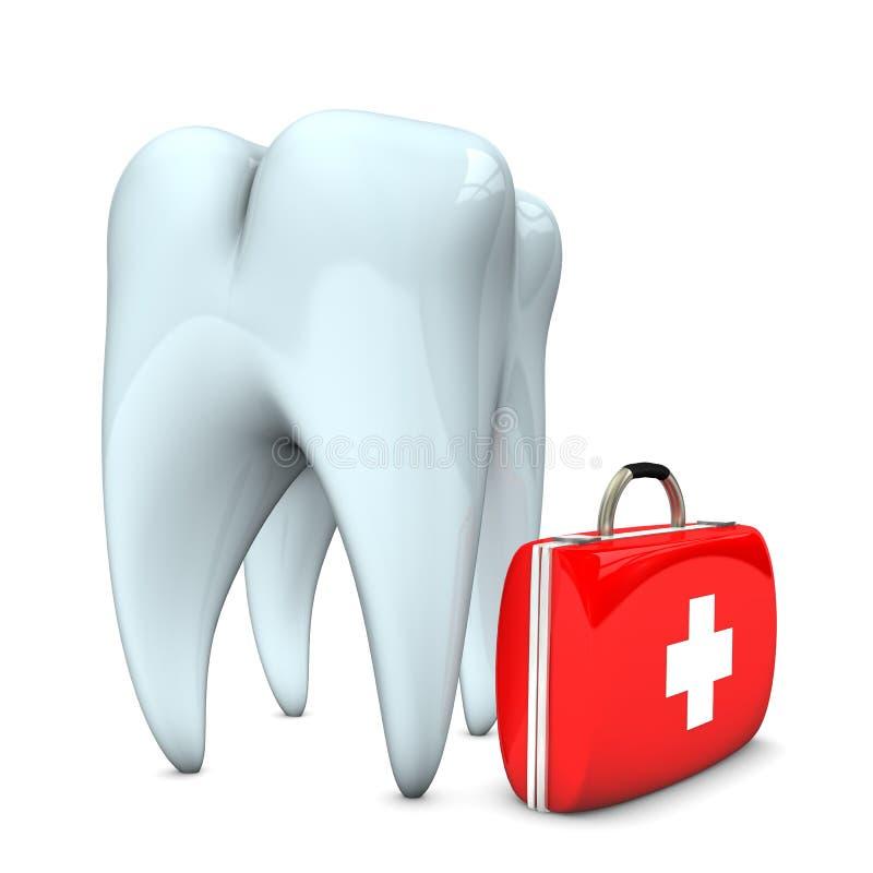 Caso di emergenza del dente illustrazione vettoriale