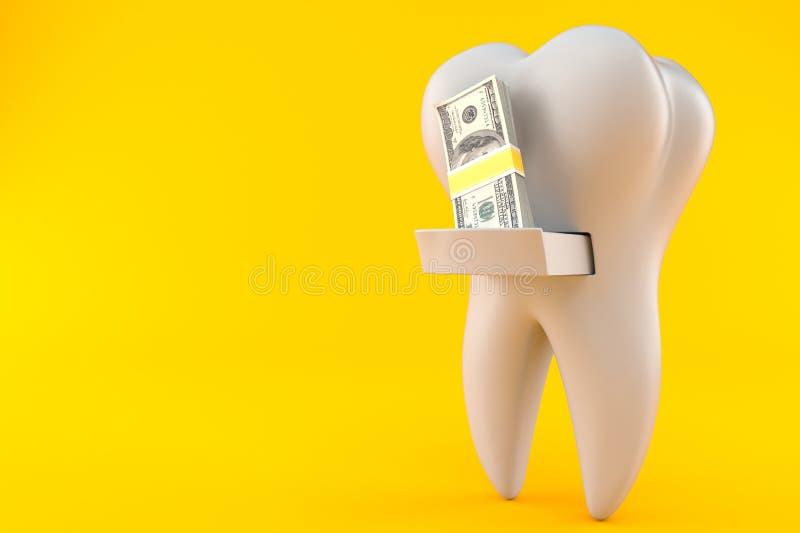 Dente com dinheiro ilustração do vetor