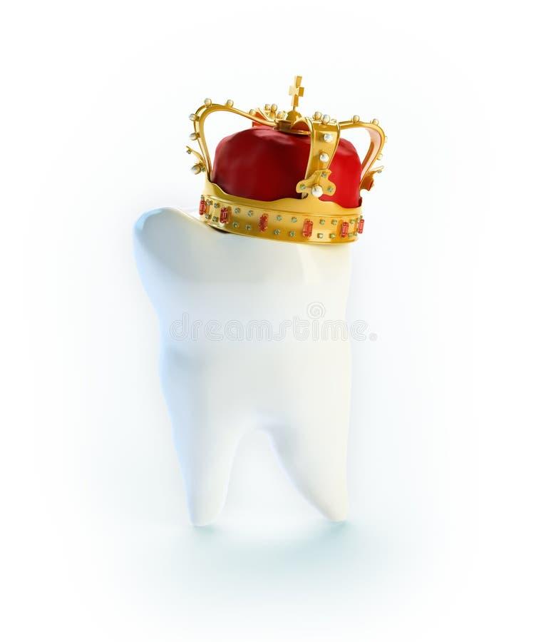 Dente com uma coroa ilustração royalty free