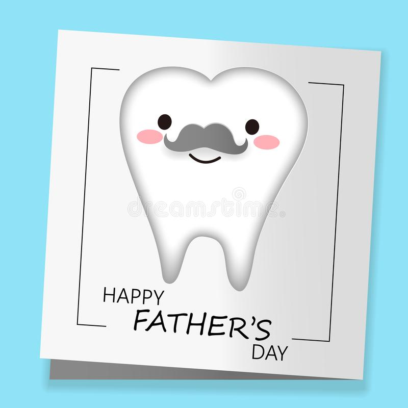 Dente con il giorno di padre felice illustrazione di stock