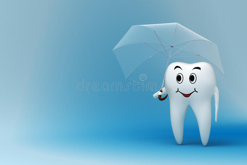 Dente con l'ombrello royalty illustrazione gratis