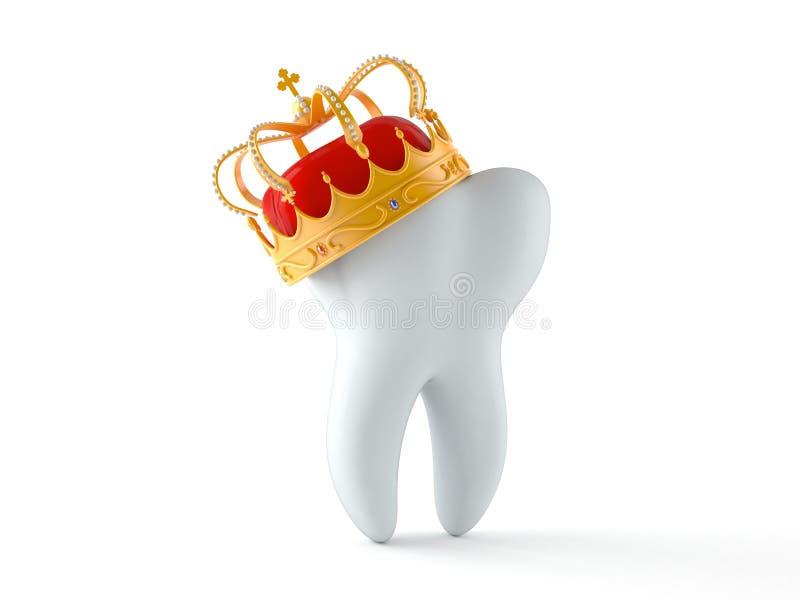 Dente con la corona royalty illustrazione gratis