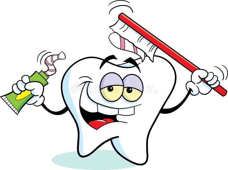 Dente con un toothbrush royalty illustrazione gratis